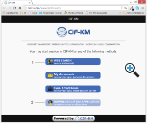 Web page of CIFKM Server